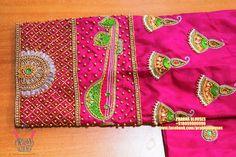 Brocade Blouse Designs, Wedding Saree Blouse Designs, Aari Embroidery, Embroidery Neck Designs, Maggam Work Designs, Fancy, Work Blouse, Hand Designs, Sleeve Designs