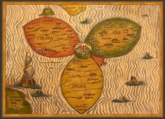 an actual world map, according to Posidonius, from around 150-130 B.C. great article! I want to post so many more of these images.