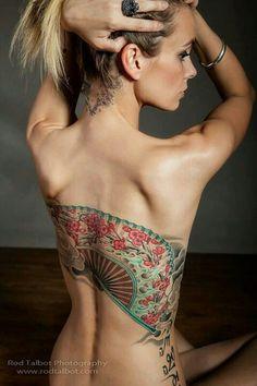 Japanese fan tattoo