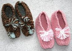 Grandmas Knitted Slippers
