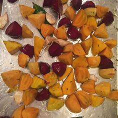 Beets about to roast. #sopretty #sundaysupper #pinotmom