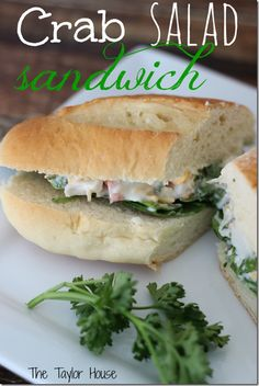 EAsy and Delicious Crab Salad Sandwich using Sweet Crab Meat