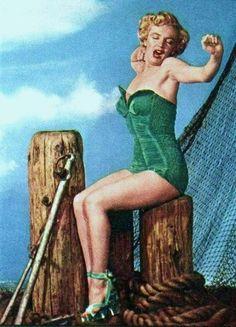 Marilyn Monroe by Phil Burchman-1951