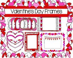 Valentine's Day Frames - perfect for bulletin boards! $