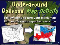 Map Activities, Back To School Activities, Educational Activities, Summer Activities, Harriet Tubman Underground Railroad, Grades, Homeschooling, September, Students