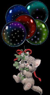 Imágenes con movimiento y gifs animados para celulares   Banco de Imágenes Gratis .COM (shared via SlingPic)   cats   Pinterest   Gifs, Kittens and Christmas