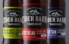 Cookchick - Thatchers Cider Barn #packaging #design #diseño #empaques #embalagens #emballage #worldpackagingdesign worldpackagingdesign.com