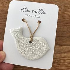 Clay Christmas Decorations, Heart Decorations, Polymer Clay Projects, Diy Clay, Elephant Decoration, Letterbox Gifts, Clay Ornaments, Hanging Hearts, Heart Ornament
