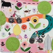 park & ride - bright - alexander henry fabric