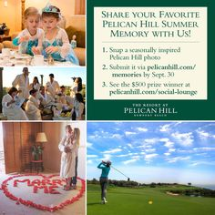 Share your favorite #PelicanHillMemories, as our seasonally inspired contest continues. Submit your summer photos to pelicanhill.com/memories for your chance to win a $500 prize. #pelicanhill #summerfun
