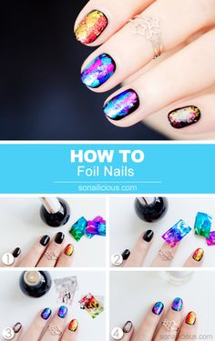 So Nailicious Foil Nails How To get your nail art foils at mkt.com/tipsandtoesnc