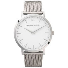 Larsson & Jennings Lugano 40mm Silver Stainless Steel Metal Watch -... (18.050 RUB) ❤ liked on Polyvore featuring men's fashion, men's jewelry, men's watches, mens stainless steel watches, mens silver watches and mens metal watches
