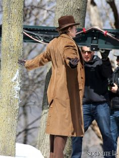 First Look At Charlie Hunnam On The Set Of 'Crimson Peak' Ontario April 10, 2014