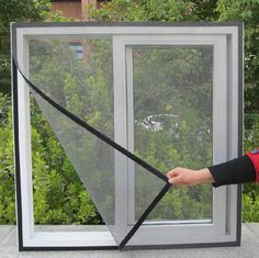 DIY Fly Screen Window Door Mesh White Black Insect Fly Mosquito Bug Screen Self-adhesive Anti-mosquito Net Sheer Curtains Summer Mosquito Curtains, Mosquito Net, Diy Curtains, Sheer Curtains, Anti Mosquito, Mosquito Window Screen, Window Screens, Window Coverings, Window Treatments