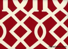 Kirkwood Geometric Indoor/Outdoor Fabric Cherry. hartsfabric.com