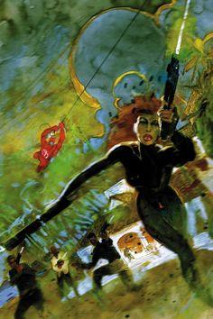 Black Widow and Daredevil by Bill Sienkiewicz