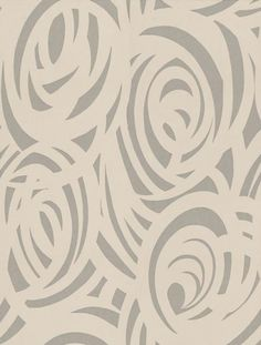 Vortex (110077) - Harlequin Wallpapers - A stunning wallcovering with a swirly design all over showing in cream on shimmering silver. Other colour ways available. Please request a sample for true colour match. Paste-the-wall product.