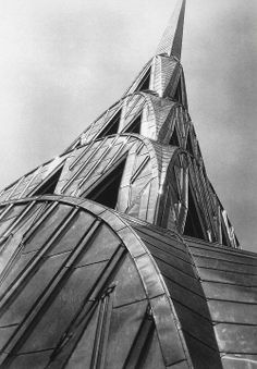 Love the lines of this, and eye being led.   Chrysler Building 1931- © Margaret Bourke-White
