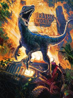 Jurassic World: Fallen Kingdom - Brian Jack Farris / Art Direction + Illustration Jurassic Park Trilogy, Jurassic Park Poster, Blue Jurassic World, Jurassic World Fallen Kingdom, Jurrassic Park, Park Art, Michael Crichton, Jurassic World Wallpaper, Dinosaur Wallpaper