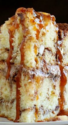 Caramel Apple Cinnamon Cake Recipe