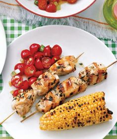 Who can resist food served on a skewer? These simple recipes for meat, chicken, and seafood kebabs are fast to prepare and fun to eat.