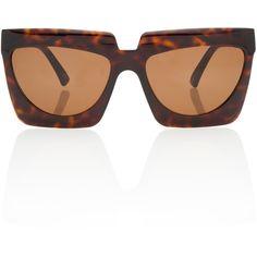 Adele Rectangular Sunglasses   Moda Operandi ($510) ❤ liked on Polyvore featuring accessories, eyewear, sunglasses, rectangle glasses, square frame glasses, oversized glasses, rectangle sunglasses and rectangular glasses