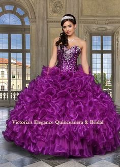 Sequined Bodice Da Vinci Dark Fuschia 80232