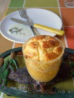 Soufflé di zucca con salsa al gorgonzola