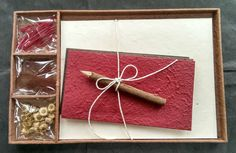 Gift Set - Letter/Writing Stationery Set/Handmade Mulberry Paper/X mas/Earthy