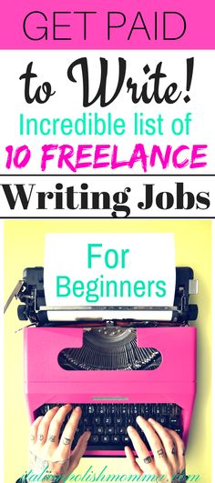 Are you a new writer and not sure where to begin? This post will help direct you to great freelance jobs for new writers and gain the experience you need! Get Paid to write online! Incredible list of freelance writing jobs for beginners! Great for stay at home moms to earn extra money online! #freelancewritingjobs #workfromhome #freelance #writing #makemoneyonline #workfromhomejobs #blogging #forbeginners