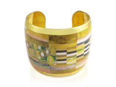 Evocateur 22K Gold Leaf Cuff Bracelet