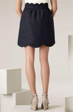 Scallop skirt  Love a good clean scallop hem! So feminine