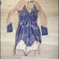 Blue lace For Love and Lemons Dress In excellent condition!! For Love and Lemons Dresses