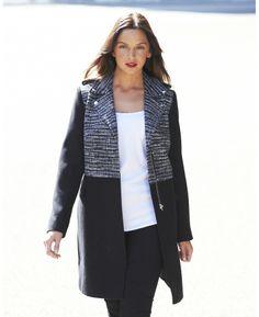 Tweed Panel Coat at Simply Be