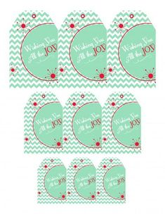 """""""Wishing You All the Joy"""" free printable gift tags from @Best Friends For Frosting #AlltheJoy"""
