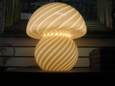 Pair of Murano Mushroom Table Lamps by Vistosi 5