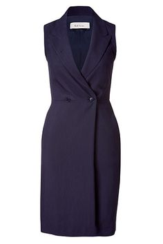 Paul Smith   Navy Sleeveless Wool-Blend Dress