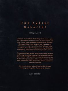 Alan Rickman :'(