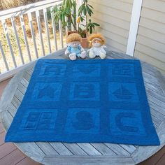 Free knitting pattern for ABC Baby Blanket pattern by Jenny Williams - also like the photography