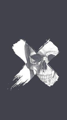 Black Wallpaper: Skull X iPhone Wallpaper – iPhone Wallpapers Geometric Wallpaper Iphone, Cross Wallpaper, Hipster Wallpaper, Dark Wallpaper, Wallpaper Backgrounds, Dope Wallpapers, Iphone Wallpapers, Skeleton Art, Scary Art