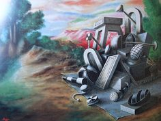 Title: Objects Abandoned in the Forest (1928) Artist: Alberto Savinio. Nationality: Italian.