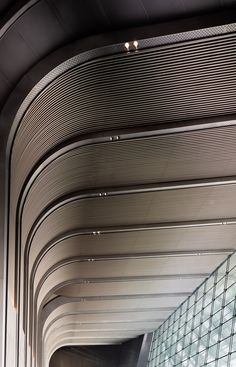 The CITIC Tower, designed by American studio KPF, is the tallest skyscraper in Beijing, the fourth highest in China, and eight worldwide. Ceiling Detail, Roof Detail, Ceiling Design, Wall Design, Lobby Interior, Luxury Homes Interior, Interior Lighting, Contemporary Interior Design, Shop Interior Design