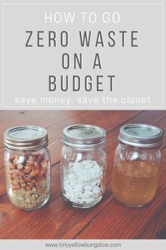 Going Zero Waste on a budget! I'm actively trying to live a low waste life, but we are a family on a budget. I love to see articles on how to go low waste and save money! Zero Waste, Reduce Waste, Waste Reduction, Green Living Tips, Green Tips, Do It Yourself Inspiration, Eco Friendly House, To Go, Food Waste