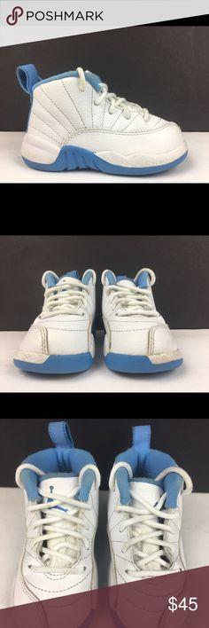 more photos fedb4 2f489 Nike Air Jordan 12 GT TD White Blue UNC Tar Heels Nike Air Jordan 12 XII