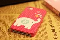 Pink Elephant Design iPhone 4 4s Case