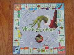 Monopoly Grinch Christmas Game Board Replacement Whoville-Opoly
