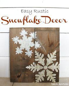 Cute snowflake art, and looks easy too!