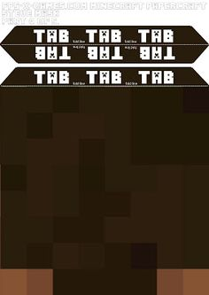 Minecraft Steve plantilla de máscara de cabeza de 4-5