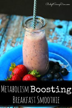 Wanting help dropping some pounds? This Metabolism Boosting Smoothie -  Metabolism Boosting Breakfast Smoothie