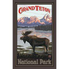 Grand Teton National Park Wood Sign